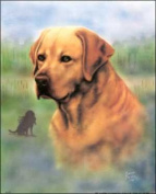 Yellow Lab Paper Tole 3D Kit Size 8x10