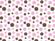 Pink & Brown Candy Dot Tissue Paper 50cm x 80cm Pkg of 20 Sheets