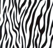 Black Zebra Print Clear (60cm X 100') Cellophane Roll