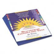 SunWorks : SunWorks Construction Paper, Heavyweight, 9 x 12, Dark Blue, 50 Sheets -:- Sold as 1 PK