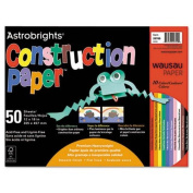 Astrobrights Construction Paper, 72-lb., 12 x 18, Assorted, 50 Sheets/Pack