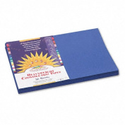 SunWorks Products - SunWorks - Construction Paper, 58 lbs., 12 x 18, Dark Blue, 50 Sheets/Pack - Sold As 1 Pack - Brightly-coloured, high-strength, heavyweight construction paper with long, strong fibres that cut clean and fold evenly without cracking. ..