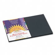 SunWorks : SunWorks Construction Paper, Heavyweight, 12 x 18, Black, 50 Sheets -:- Sold as 2 Packs of - 50 - / - Total of 100 Each