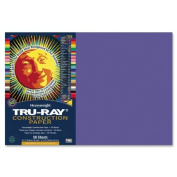 Tru-Ray - Construction Paper,76 lb.,30cm x 46cm ,50/PK,Violet, Sold as 1 Package, PAC 103041