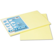 Pacon® - Tru-Ray Construction Paper, 76 lbs., 12 x 18, Light Yellow, 50 Sheets/Pack - Sold As 1 Pack - Heavyweight 100% vat-dyed sulphite with longer, stronger fibres.
