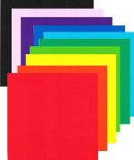 13cm Dual Side Construction Paper 10 Colours 150 Sheets Set