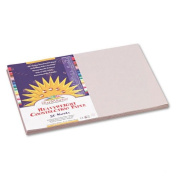 SunWorks : SunWorks Construction Paper, Heavyweight, 12 x 18, Grey, 50 Sheets -:- Sold as 2 Packs of - 50 - / - Total of 100 Each