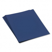 Pacon® - Tru-Ray Construction Paper, 76 lbs., 18 x 24, Dark Blue, 50 Sheets/Pack - Sold As 1 Pack - Heavyweight 100% vat-dyed sulphite with longer, stronger fibres.