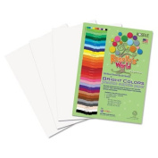 Rlp 76303 Premium Sulphite Construction Paper, 76 lbs., 18 x 24, Bright White, 50-Pack