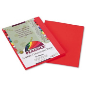 Pacon Products - Pacon - Peacock Sulphite Construction Paper, 76 lbs., 9 x 12, Red, 50 Sheets/Pack - Sold As 1 Pack - Enjoy vivid, clean colours that withstand sunlight and resist fading. - Long, strong sulphite fibres provide rigidity needed for proje ..