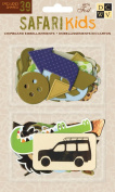 DCWV CP-012-00044 Chipboard Shapes Boy Safari Kids