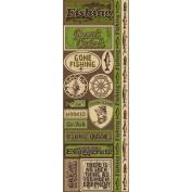 Signature Series 2012 Cardstock Combo Stickers 11cm x 30cm -Fishing
