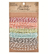 Stripes Paper String by Tim Holtz Idea-ology, 5 Yards of Each Colour, 6 Colours, TH93043