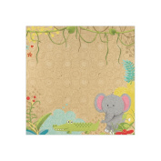 Born To Be Wild Paper 30cm x 30cm -Jungle Friends 25 per pack