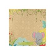 Born To Be Wild Paper 30cm x 30cm -Jungle Friends 25 per pack