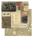 Tim Holtz 23cm X 23cm Cardstock - Grade School