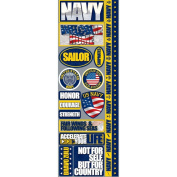 Signature Series 2012 Cardstock Combo Stickers 11cm x 30cm -Navy