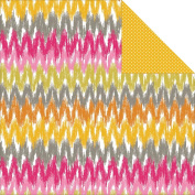 Blomma Double-Sided Cardstock 30cm x 30cm -Chevron Pink 25 per pack