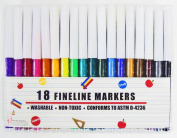 18 Fineline Markers
