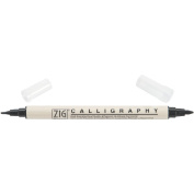 Zig Memory System Calligraphy Dual Tip Marker, Carded, Pure Black