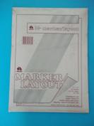 AmArt, Marker Layout, 57-160, 23cm x 30cm , 50 Sheets