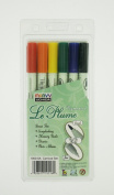 Uchida 1950-6A 6-Piece LePlume Pigmented Carnival Colour Set