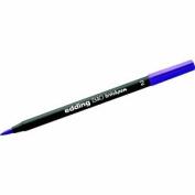 EDDING 1340 BRUSH PEN VIOLET - Fibre pen with Flexible Brush Style Tip