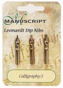 Manuscript Leonardt 3pc Ink Dip Pen Nib Set - Calligraphy 2