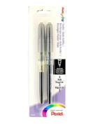 Pentel Tradio Stylo Sketch Pen black pack of 2