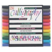 Kuretake Calligraphy Pen - 12 Colour Set