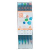 Akashiya Fude Brush Pen Sai, 5 Summer Colour Set
