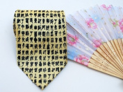 Small Chinese Calligraphy Ties - Gold