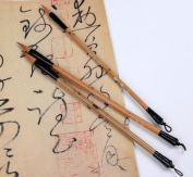 Excellent Medium Small Script Chinese Calligraphy Kanji Sumi Drawing Brush Set - Wolf Hair