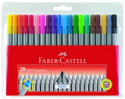 Faber-Castell Grip Finepen - Wallet of 20 Colours
