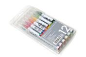Kuretake Clean Colour Real Brush Pen - 12 Colour Set