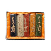 Chinese Calligraphy Patterned Ink Sticks 5pc Set