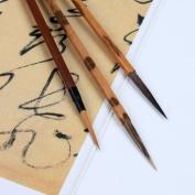 Chinese Calligraphy Sumi Drawing Kanji Brush Hook Scriptliner Set - Wolf etc Hair - .4x3.1 cm