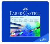 Faber-Castell Art GRIP Aquarelle Watercolour Pencils, tin of 24