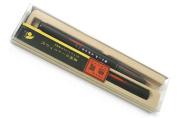 Akashiya Bamboo Body Brush Pen - Black Body