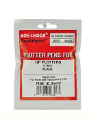 -Koh-I-Noor Fibre Tip Plotter Pens 0.3 mm black fine pack of 5
