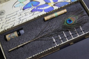Antique Peacock Style Wedding Dip Pen Writing Quill YM-025