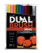 10 Pc Dual Brush Primary Pen Set