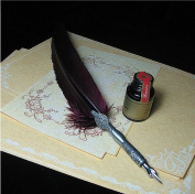 Caligraphy Tool Carved Stem Writing Quill Set LL-31