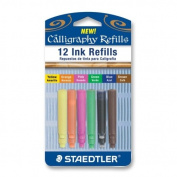 Wholesale CASE of 25 - Staedtler Water-based Calligraphy Pen Refills-Ink Refill, for Calligraphy Pen,Water-based,12/PK,Assorted