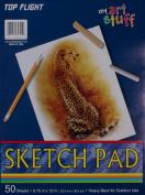 Top Flight Sketch Pad, Heavy Back, 22cm x 30cm , 50 Sheets