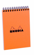 Rhodia Wirebound Pad 4.1X5.8 Orange Grid
