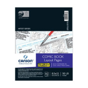 Canson Fanboy Comic Book Layout Pages 22cm . x 28cm . 35 sheets