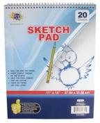 28cm X 36cm 20-page Spiral Sketch Pad PKG