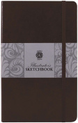 Pentalic Illustrators Sketchbook, 20cm by 13cm , Mocha Brown