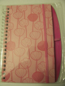 Pink Spiral Journal with Pink Flowers & Ribbon Closure
